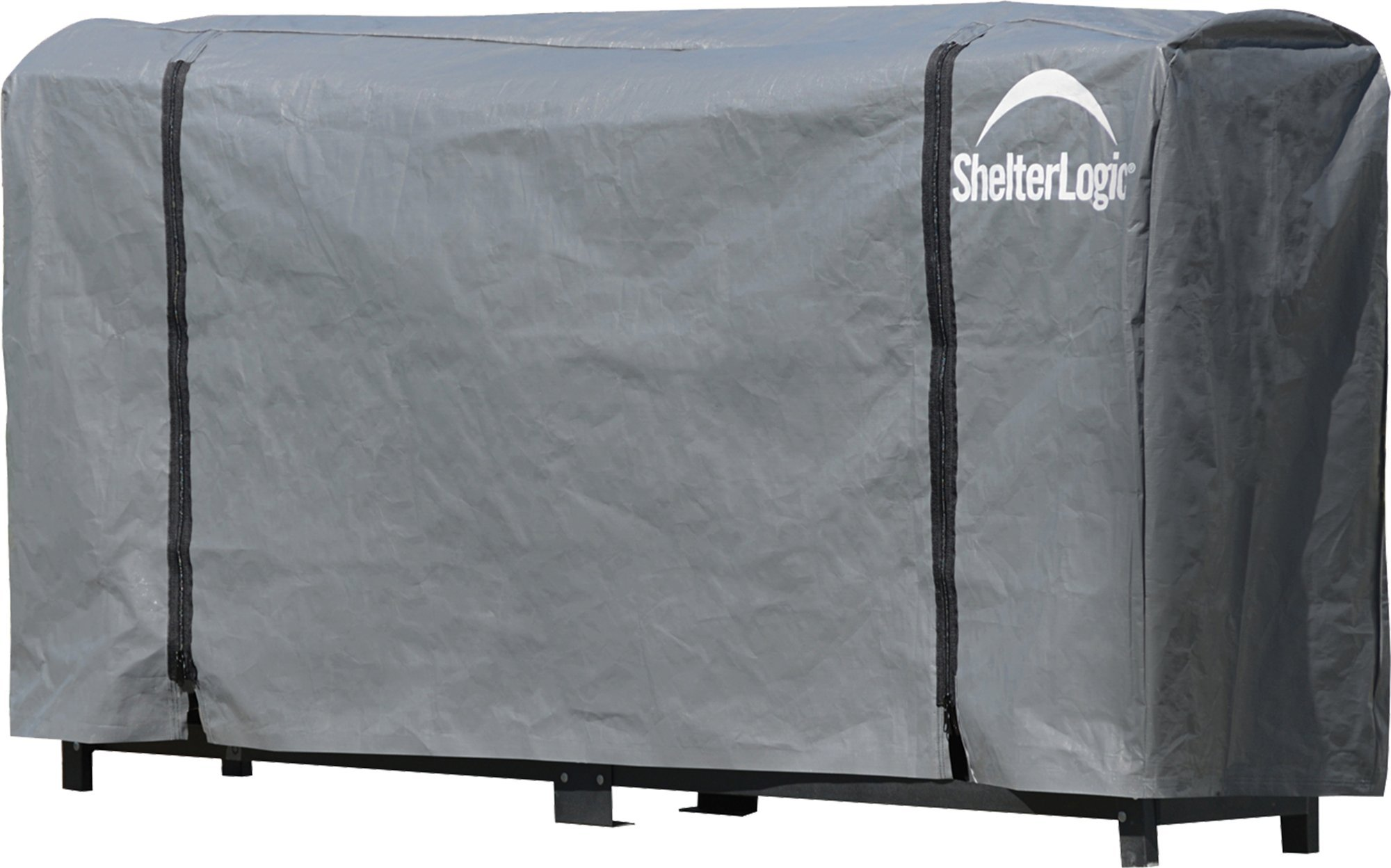 ShelterLogic Firewood Rack-in-a-Box  Universal Full Length Cover for Firewood Storage Racks, Fits Most 8-Feet Firewood Racks