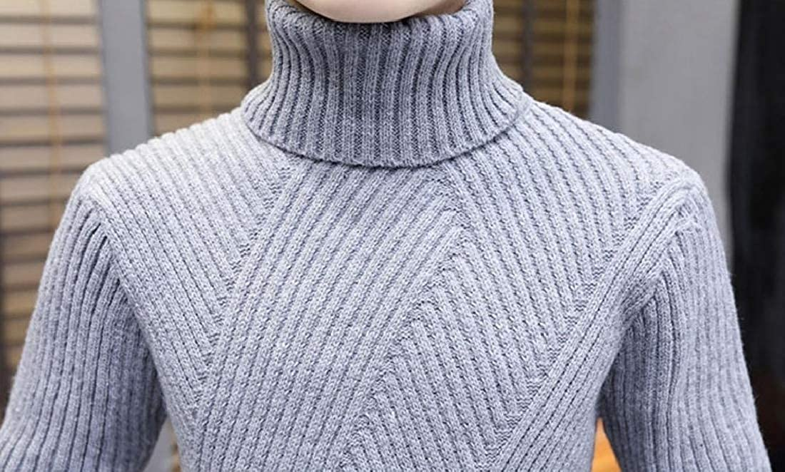 Zimaes-Men Knitting Top Vogue Turtleneck Winter Casual Pullover Sweater