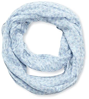 8f2ee3af9b2 Tom Tailor 02201170970 - Foulard - Imprimé - Femme - Bleu (Yonder Blue) -