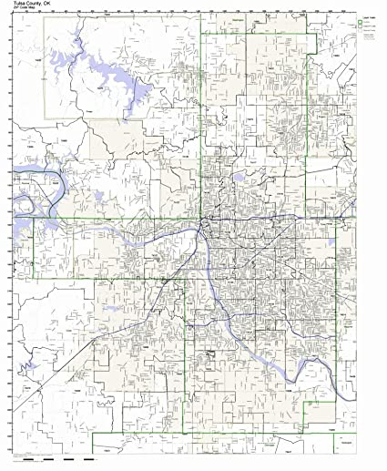 Amazon Com Tulsa County Oklahoma Ok Zip Code Map Not Laminated