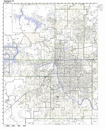 Amazon.com: Tulsa County, Oklahoma OK ZIP Code Map Not Laminated ...