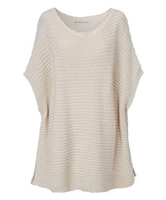 REKEN MAAR Pullover gerippt oversized Beige Größe L