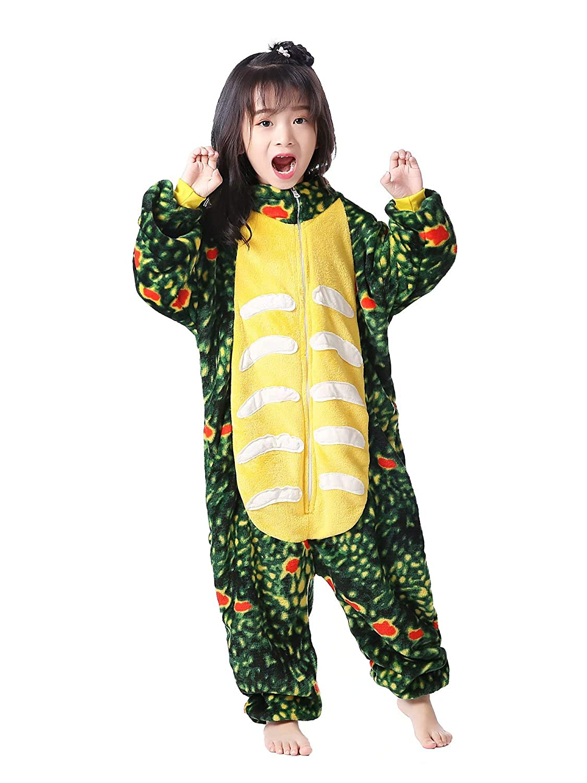 AlfaBridal Animal Onesie Unisex Kids Cartoon Pajamas Halloween Cosplay Costume
