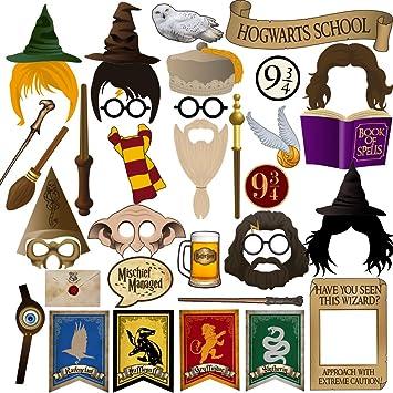 Amazon Com Bizoerade Magical Wizard Party Photo Booth Props 37pcs