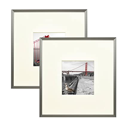 Amazon.com - Frametory Square Metal Frame Collection Set of 2-8X8 ...