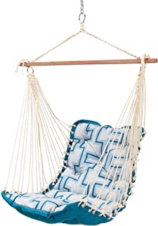 product image for Hatteras Hammocks Cast Resonate Atlantis Tufted Single Swing, 350 LB Weight Capacity, Handcrafted in The USA, Perfect for Indoor or Outdoor Use