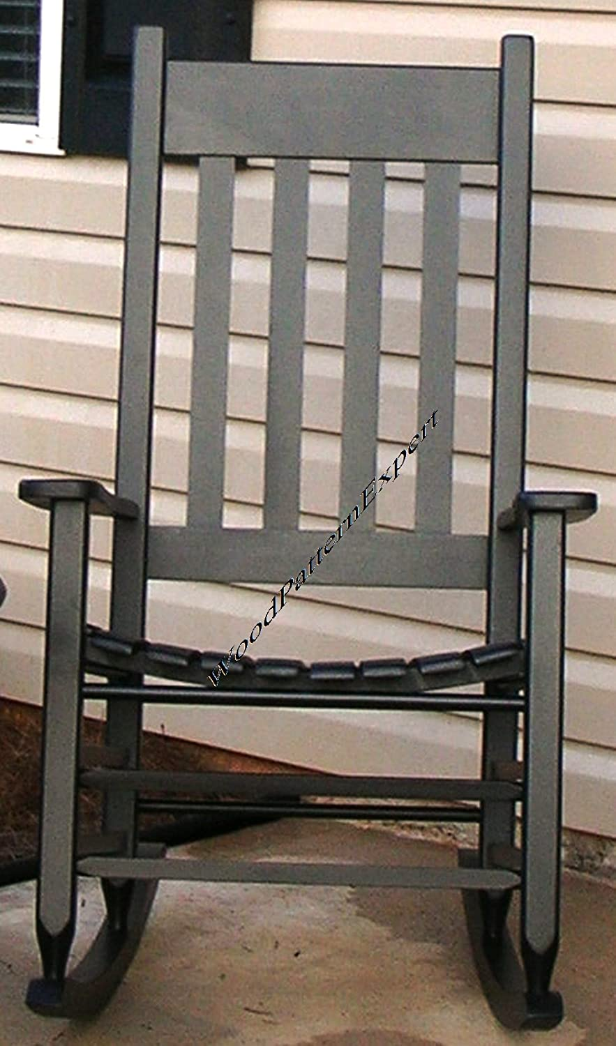 amazoncom rocking chair paper plans so easy beginners look like experts build your own front porch rocker using this step by step diy patterns by