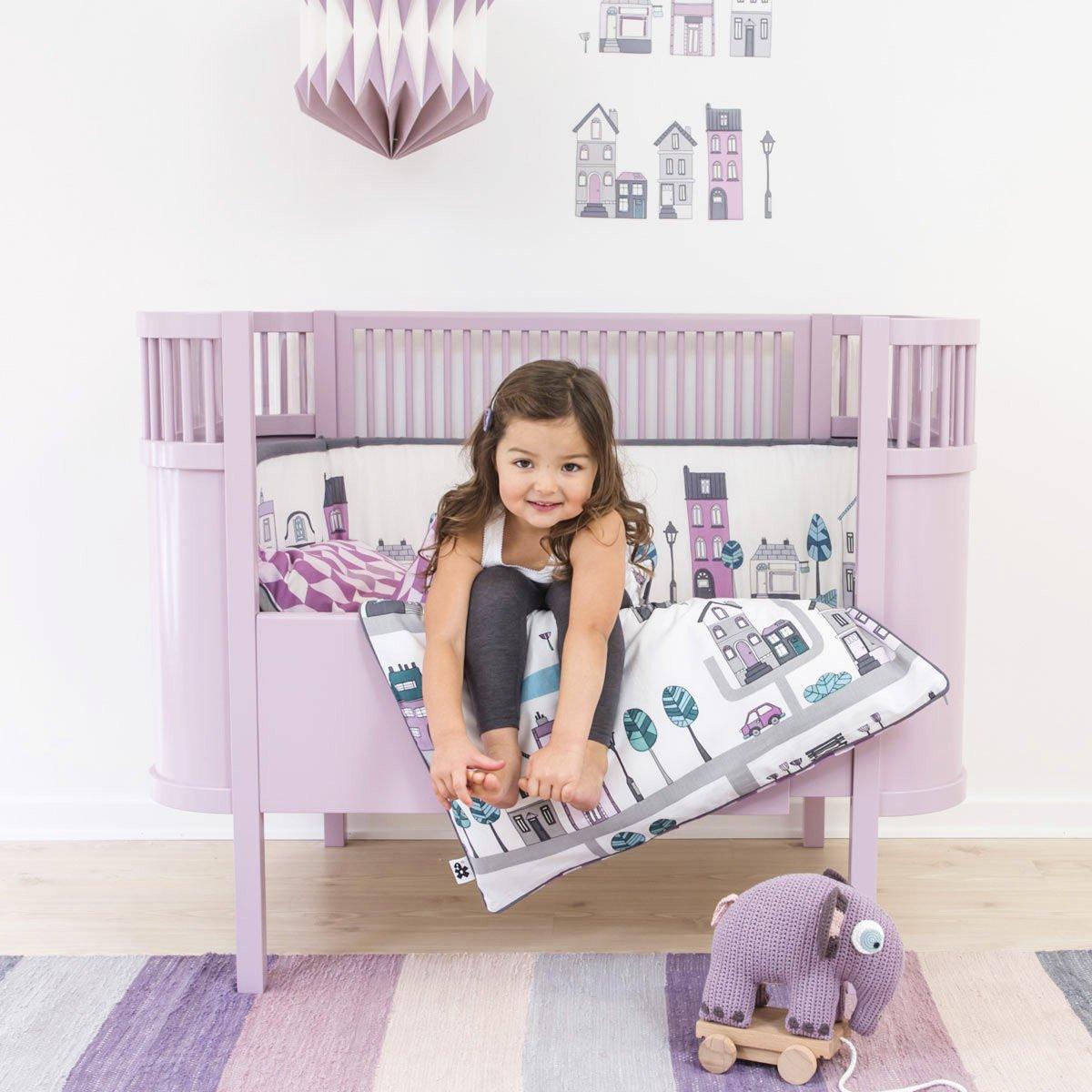 Sebra Baby- und Kinderbett Kili rosa