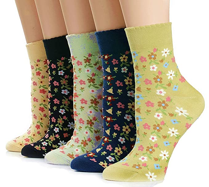 Vintage Socks | 1920s, 1930s, 1940s, 1950s, 1960s History  Vintage Value 5-Pack Crew Socks $13.97 AT vintagedancer.com