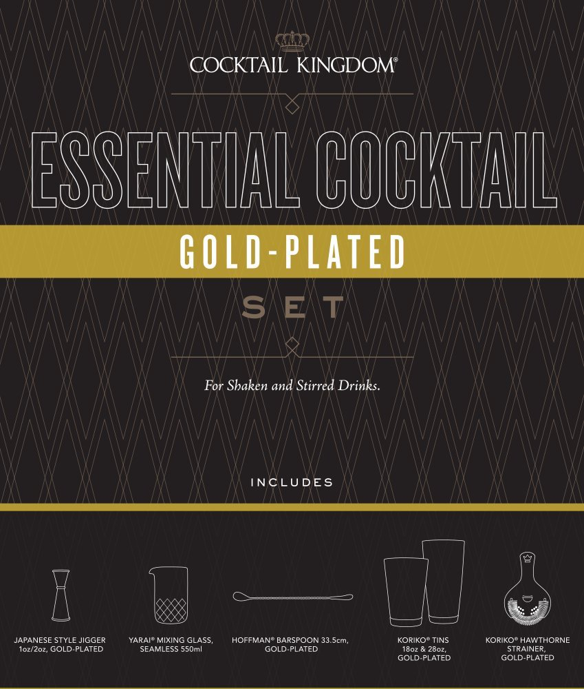 Cocktail Kingdom Essential Cocktail Set - Gold-Plated