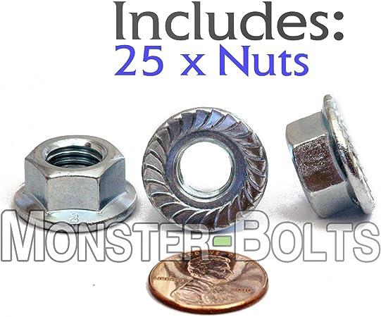 U-Turn 1//4-20 x 1//2 Serrated Hex Head Flange Bolt Grade 5 Zinc 50 Count