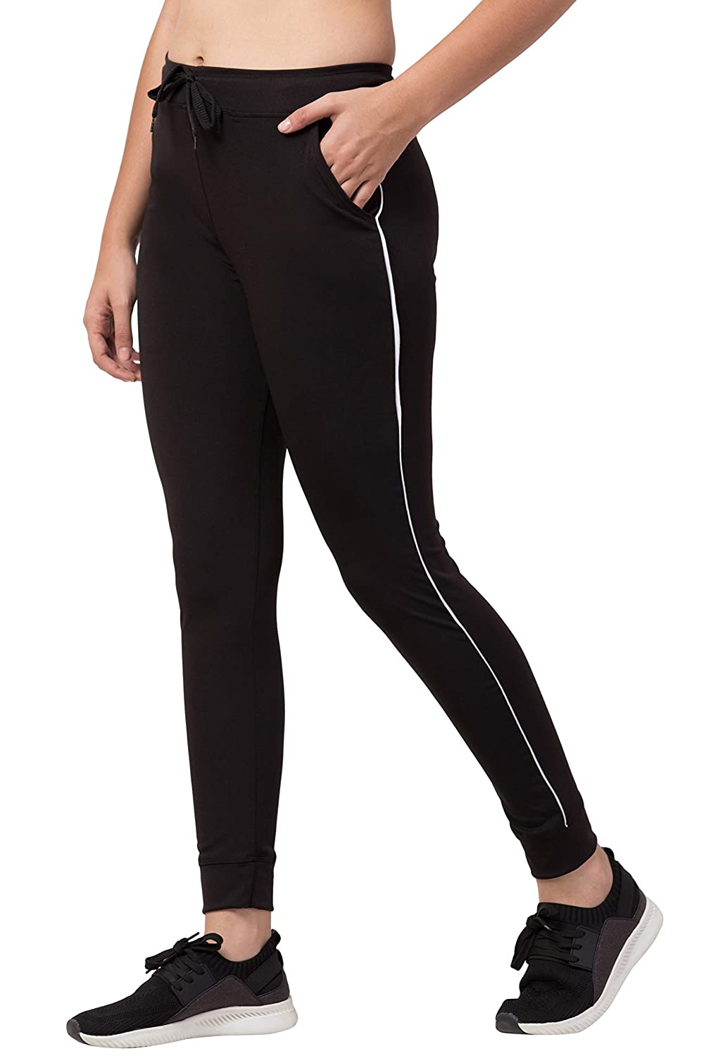Buy Bluecon Women's Polyester Solid Slim Fit Sports Active Track  Pant/Lower/Yoga Pant for Women/Girls Gym Wear- Black at Amazon.in