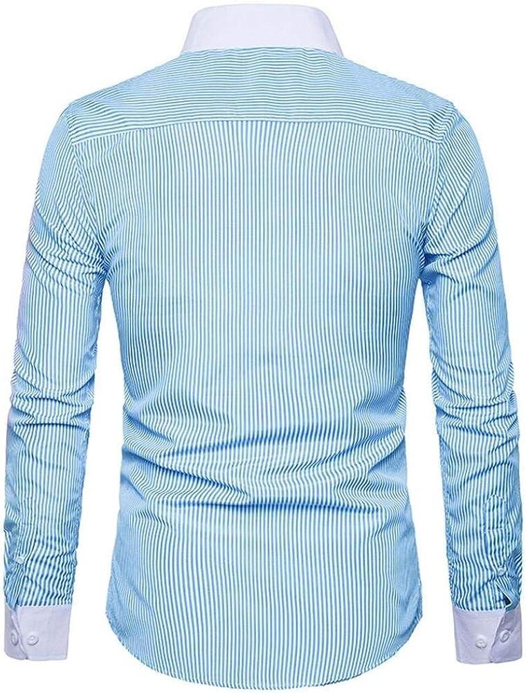 Camisas De Manga Larga para Hombres De Negocios De Camisa Basic Hombres Camisa Polo Moderna Camisa De Ocio Camisa Casual con Cuello Alto Camisa con Botones Blusa De Botones Classic: Amazon.es: Ropa