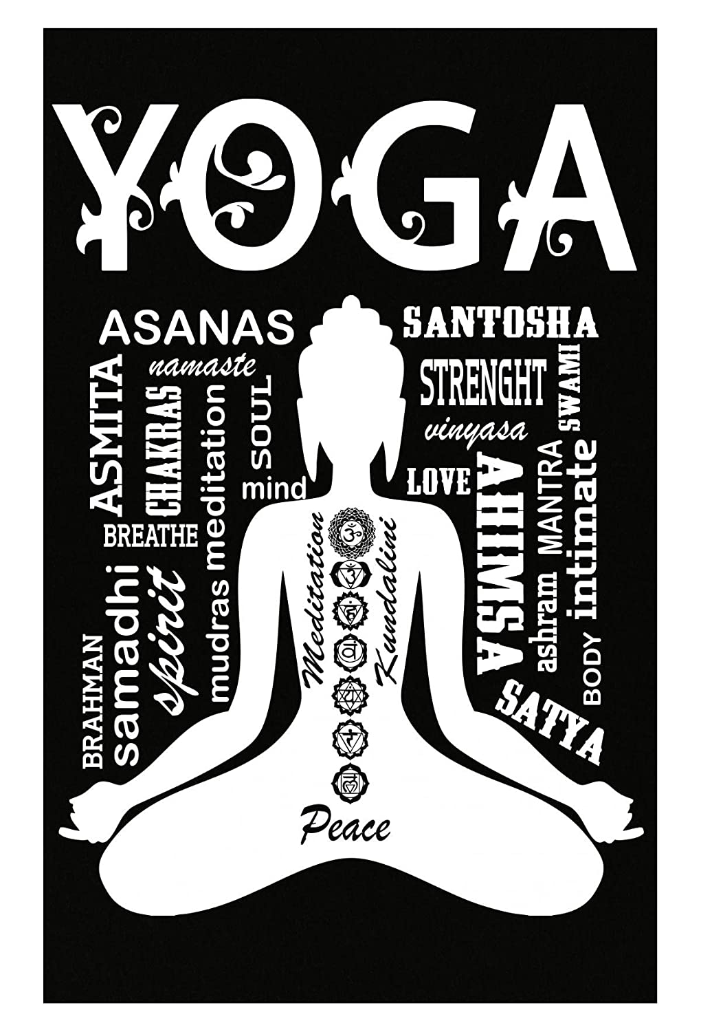 Amazon.com: AttireOutfit Yoga Peace Kundalini Love Soul ...