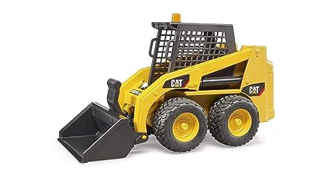 Caterpillar Skid Steer >> Amazon Com Bruder 02482 Caterpillar Skid Steer Loader Toys Games