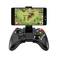 CIC Controle Bluetooth para Games Joystick Sem Fio para Android TV box PC PS Android iPega PG-9021, Preto