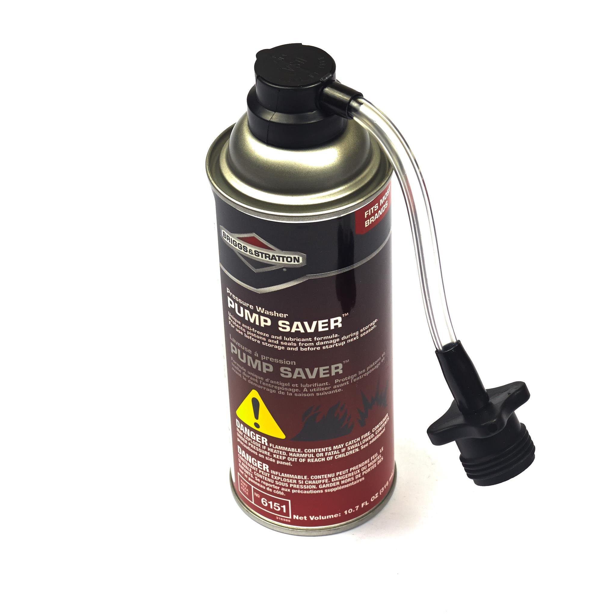 Briggs & Stratton 6151 Pressure Washer Pump Saver Anti-Freeze and Lubricant Formula, 10.7-Ounce