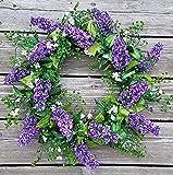ES ESSENTIALS 20'' Lavender Shell Wreath Purple