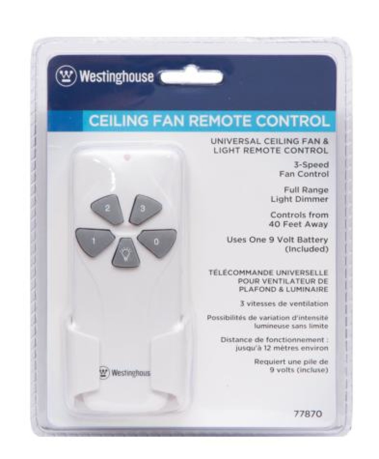 Com 7787000 Ceiling Fan And Light Remote Control Home Improvement