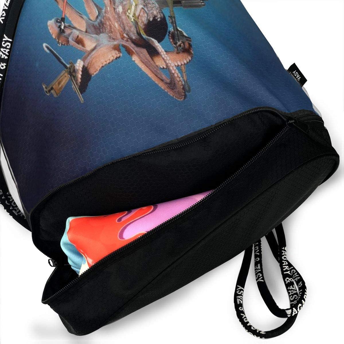 Unisex Bundle Backpack Skull Art Travel Durable Large Space Trendy Waterproof Drawstring Bag