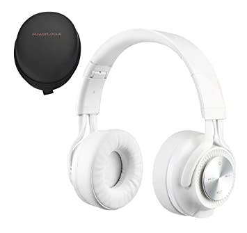 PowerLocus Bluetooth Auriculares Diadema P3, Cascos Bluetooth Inalámbrico Plegable Casco Bluetooth y Audio Cable Sonido Estéreo con Micrófono para ...
