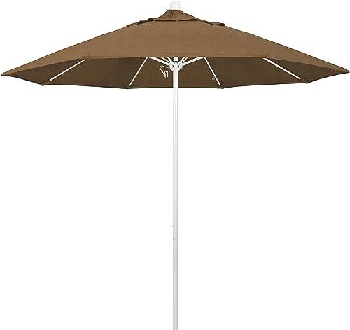 California Umbrella 9' Round Aluminum/Fiberglass Umbrella