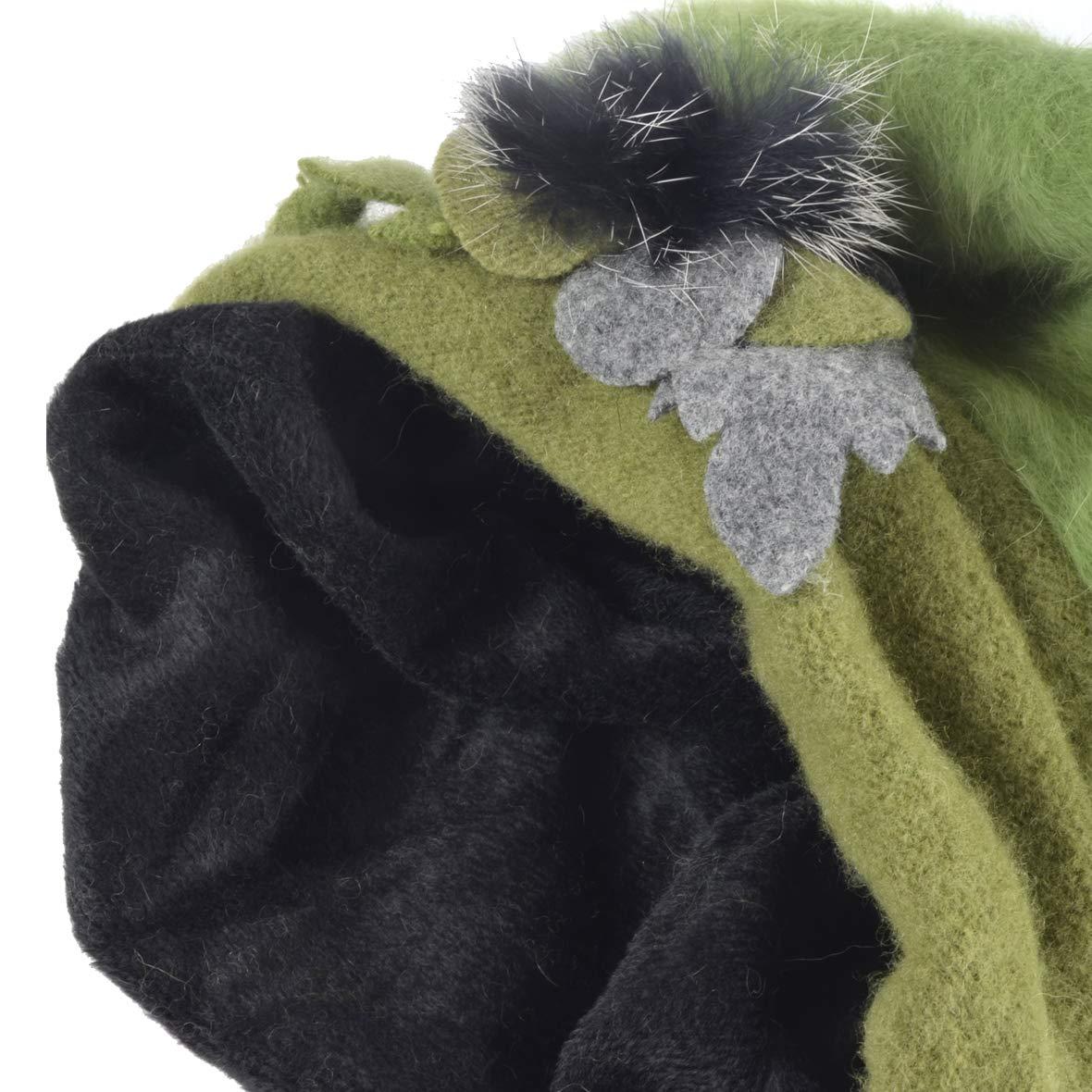 Ruphedy Women French Beret 100/% Wool Beret Knit Beanie Winter Dress Hat Hy022