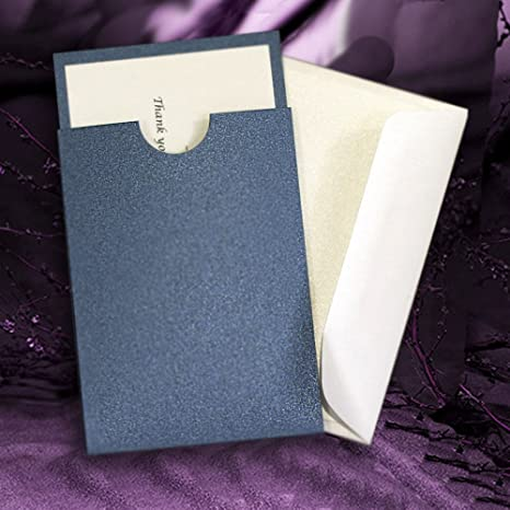 Mini Sobres Tipo Libro Para Invitaciones De Boda Azul