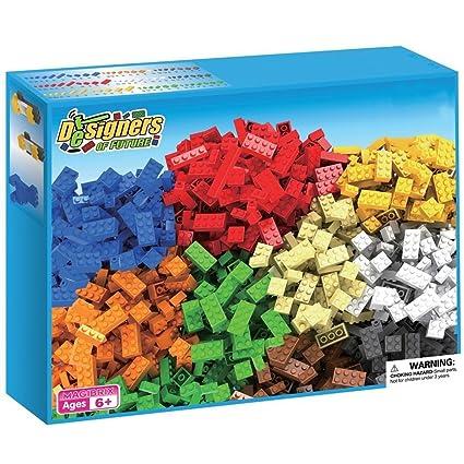 Webby Plastic Building Blocks Construction (Multicolour) - Set of 550 Pieces