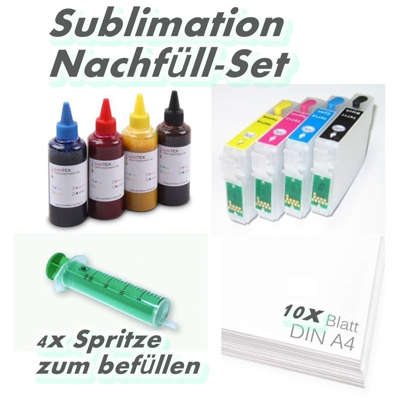 Después de relleno, incluye 200 ml Sublimación de tinta para ...