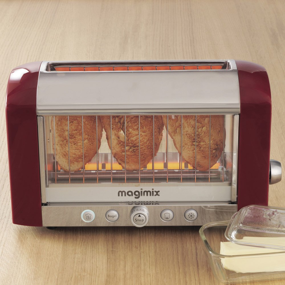 Magimix Colored Vision Toaster Red