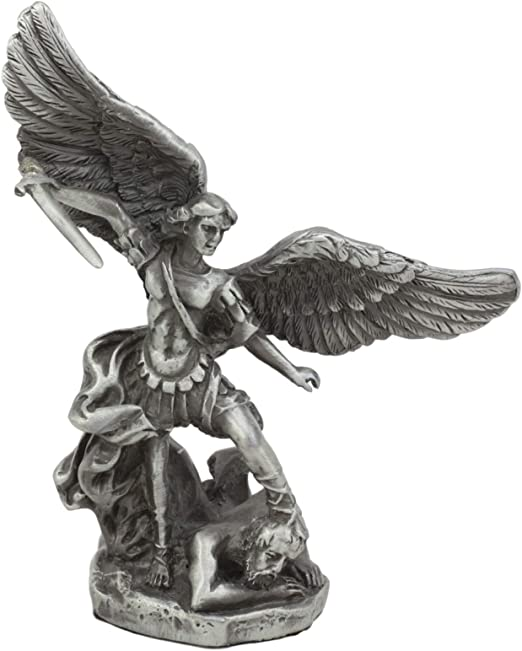 Statue St Michael Archangel 4 inch Painted Resin Figurine Patron Joseph Catholic