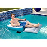 Poolcandy Splash Runner 2.5 Motorized Inflatable Pool Lounger, Water Hammock Raft for Pool or Lake, Toy for Adults & Kids, Li