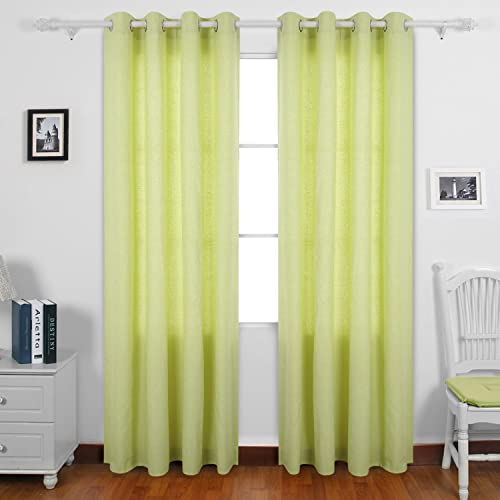 Deconovo Curtain Panels Recycled Cotton Grommet Top Drapes