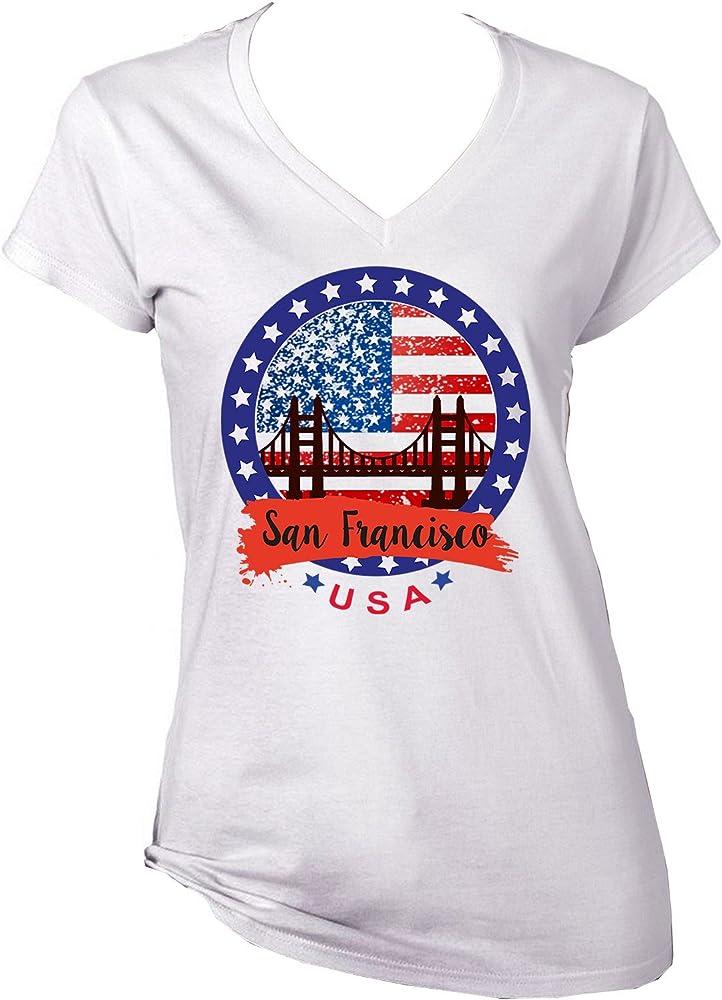 teesquare1st USA San Francisco Camiseta para Mujer de Algodon Size Small: Amazon.es: Ropa y accesorios