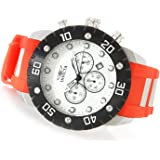 New Mens Invicta 20383 Pro Diver Scuba Chronograph Red Polyurethane Strap Watch