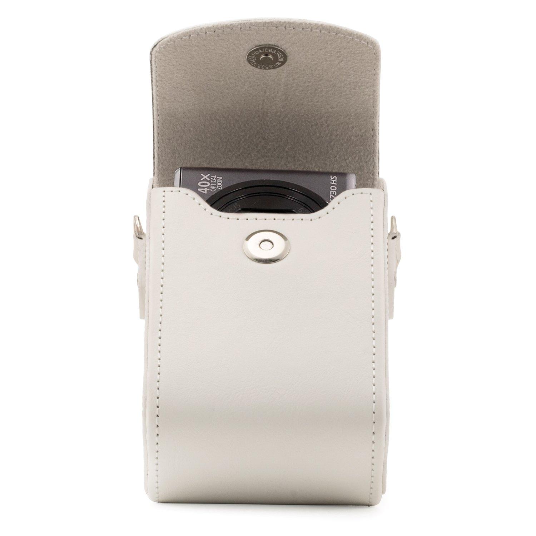 DSC-RX100 V MegaGear Para Sony Cyber-Shot DSC-RX100 Vi DSC-RX100 IV con Correa Estuche de Cuero