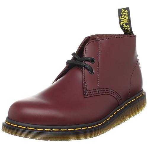 Dr. Martens Manton-R13448600 - Mocasines de cuero unisex, color rojo, talla 47: Amazon.es: Zapatos y complementos