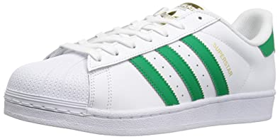 adidas Originals Men's Shoes | Superstar Foundation Fashion Sneakers, White /Fairway/Metallic/