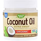 Raw natural coconut oil without additives (448G) 100% Natural & Organic Totally Pure