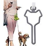 CROWATTS Dog Poop Bag Holder, Hands Free Adjustable Waste Bag Carrier Poop Bag Holder for Any Leash, Gray