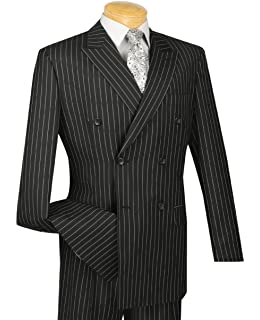new men s 3 piece black gangster pinstripe dress suit with matching