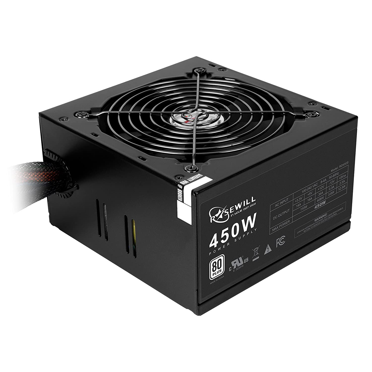 Amazon Rosewill 450W Power Supply ATX12V 450 Power Supply RD450 2