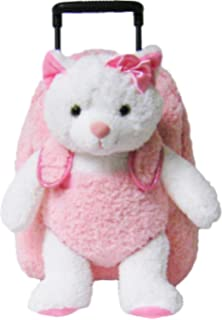 69dd38a6c1 Kreative Kids Pink Kitty Cat Rolling Backpack w Removable Stuffed Toy    Wheels
