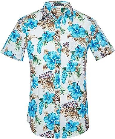 Camisa Informal De Playa De Hawaii para Hombre Verano Slim Fit Travel para Hombres: Amazon.es: Ropa y accesorios