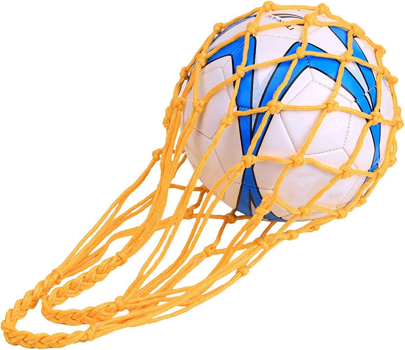 pr/ácticas Bolsa de Transporte para Baloncesto Ligeras Voleibol Verduras y Frutas QCHOMEE 2 Bolsas de Pelotas de Malla para Transportar Pelotas de Nailon