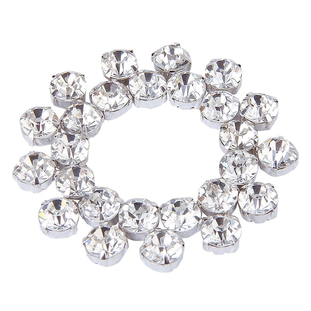 40X Suelto Facetadas Diamante De Imitacion Cuentas Costura 8mm rhinestone beads