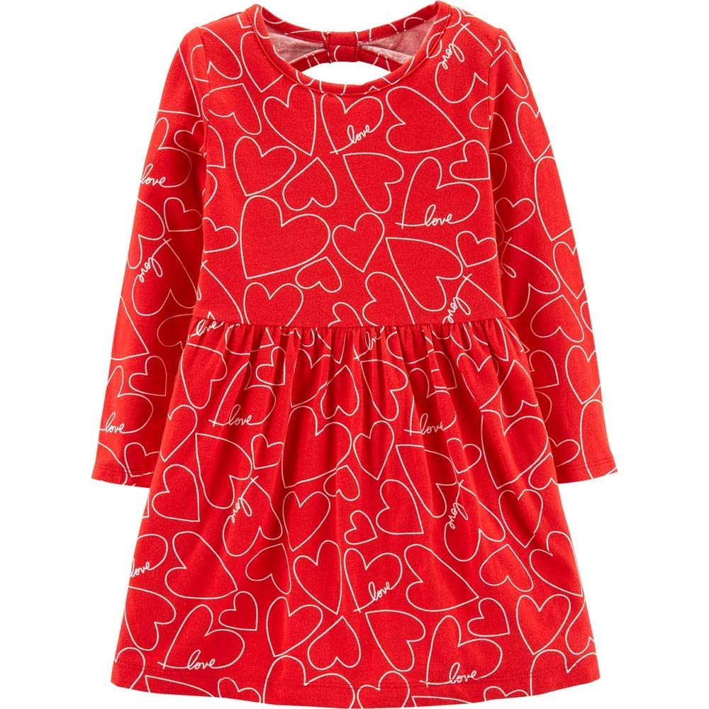 Carters Toddler Girl Striped Hooded Valentines Dress