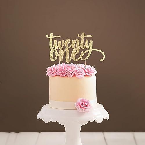 Twenty One Cake Topper 21 21st Birthday Party Decorations Milestone Age