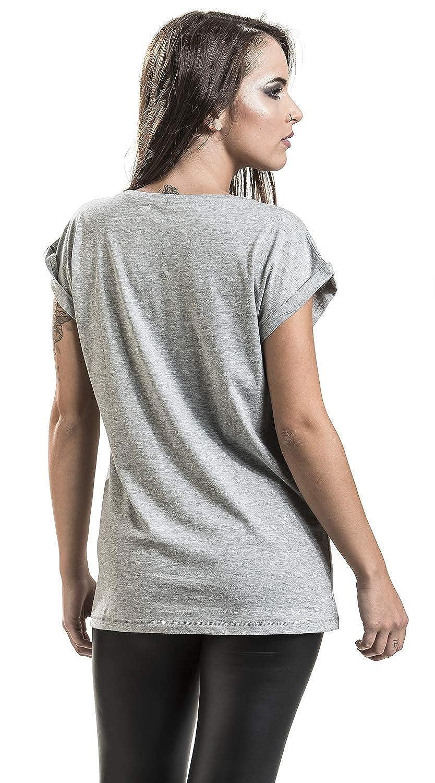 Guns N Roses Top Hat Splatter T-Shirt Manches Courtes Gris chin/é